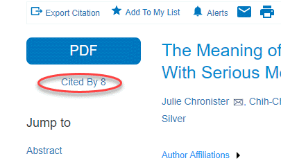 cited by at article level in apa databases