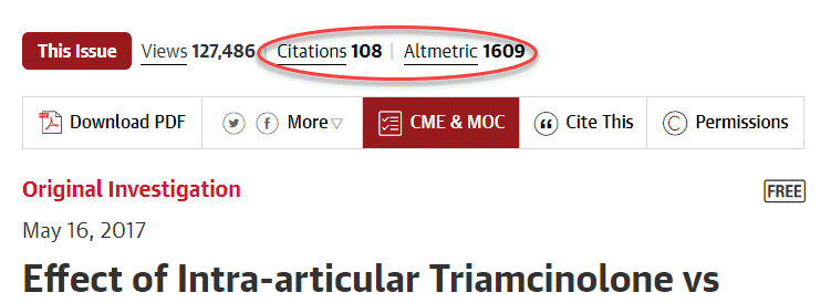 jama network citations and altmetrics above article title