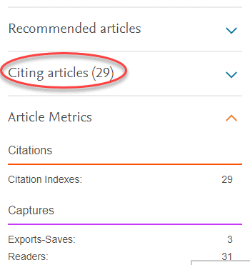 elsevier science direct citing articles
