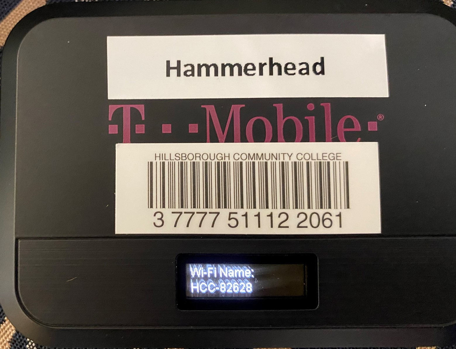 Display showing wifi network name
