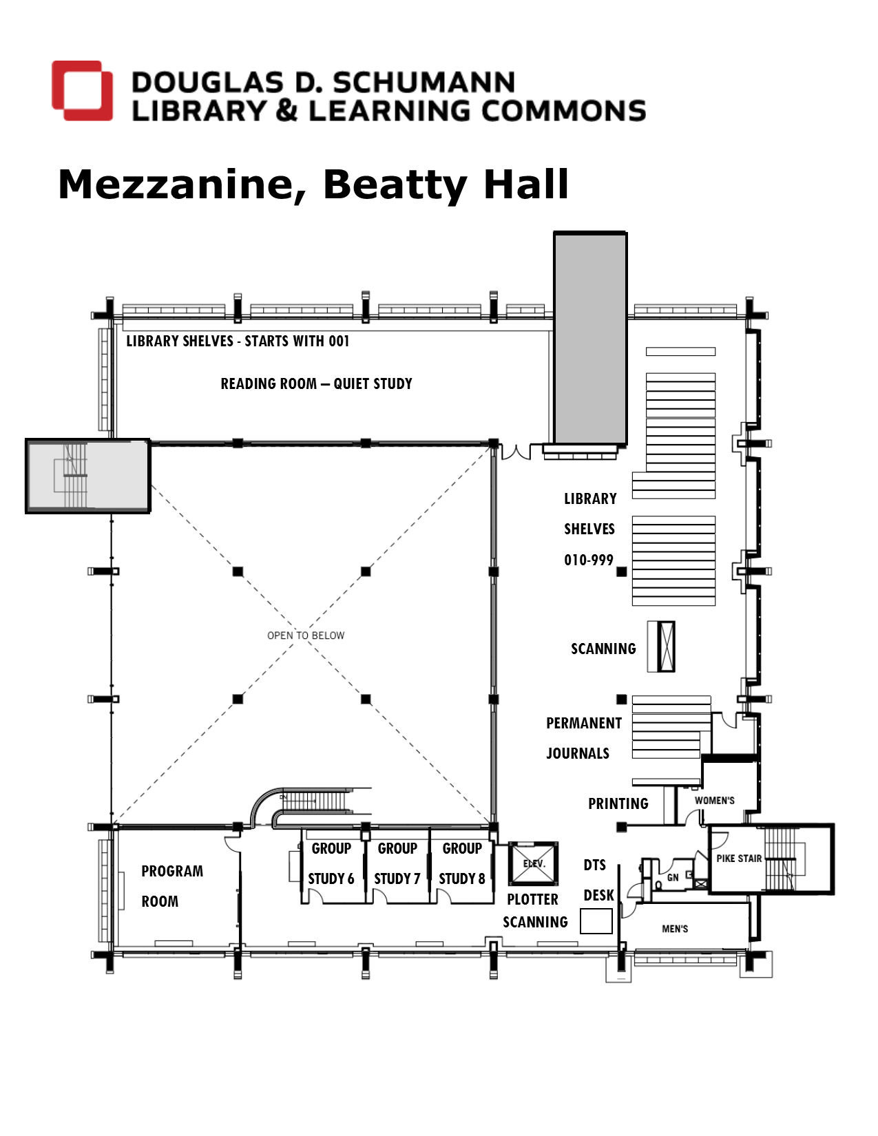 library mezzanine map