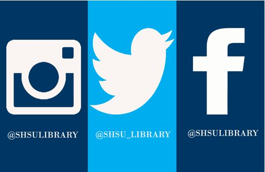 SHSU Library social media accounts