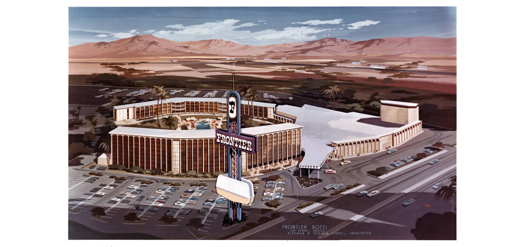 Artist Rendering, Frontier Hotel, Circa 1964 - Dreaming the Skyline Digital Collection