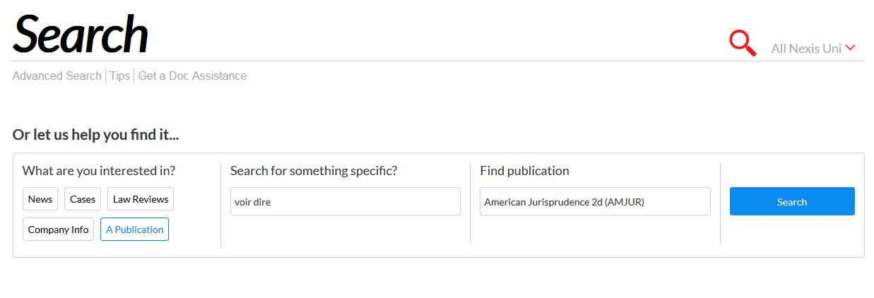 Find an encyclopedia in Nexis Uni