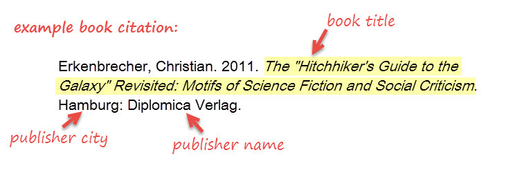 example book citation