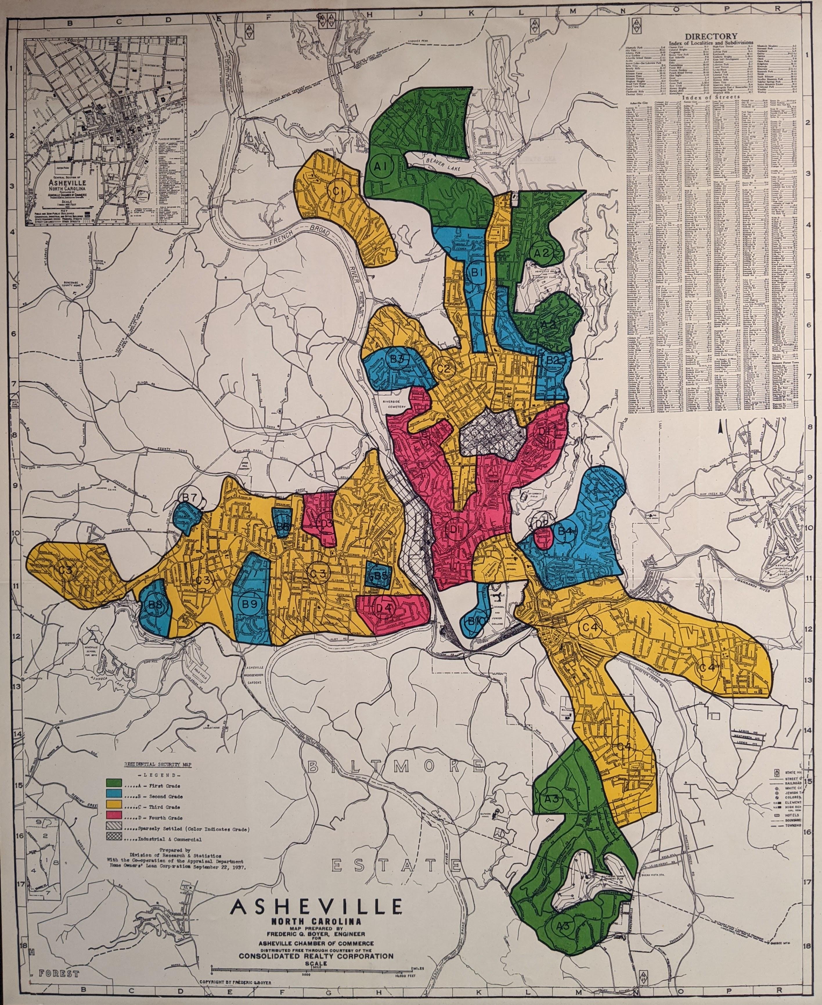 Urban Renewal in Asheville Map