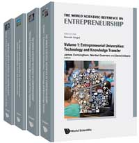 The Book cover of the World Scientific Reference on Entrepreneurship
