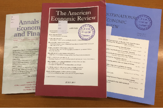 The covers of the print journals