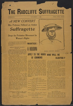 The Radcliffe Suffragette, November 7, 1908