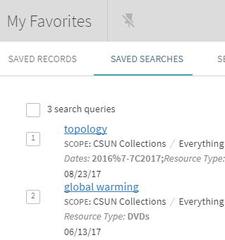 My Favorites from OneSearch