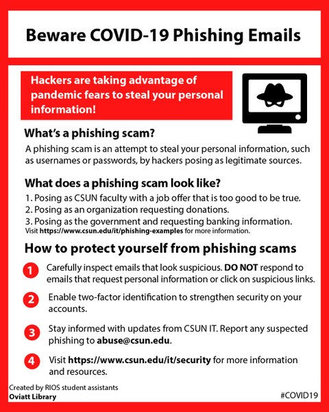 Beware COVID-19 Phishing Emails