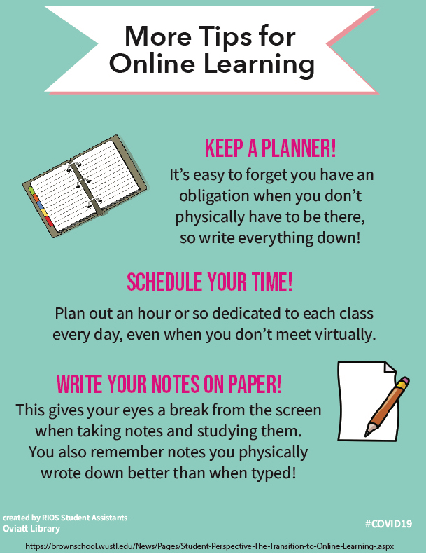 More Tips for Online Learning