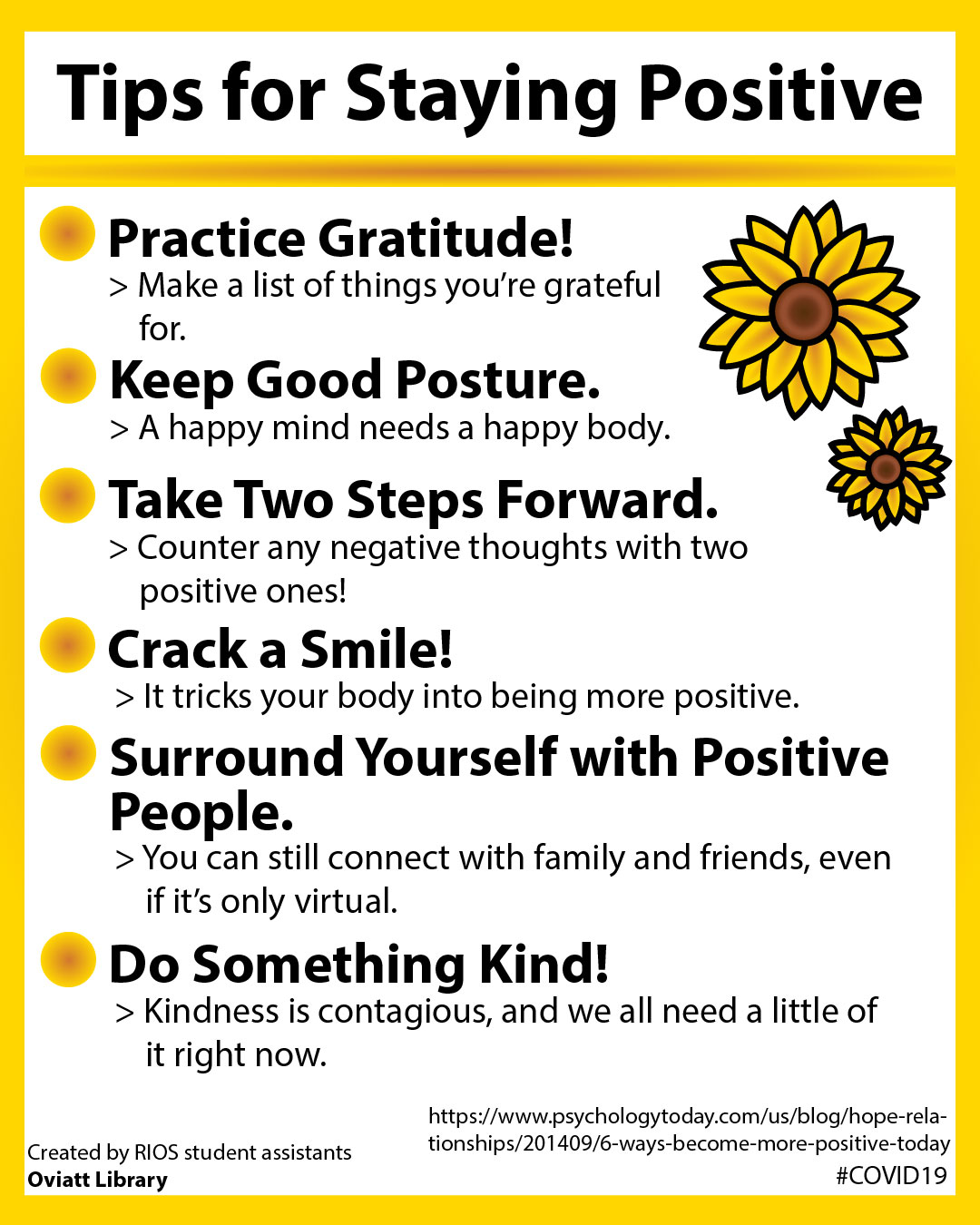 Tips for Staying Positive