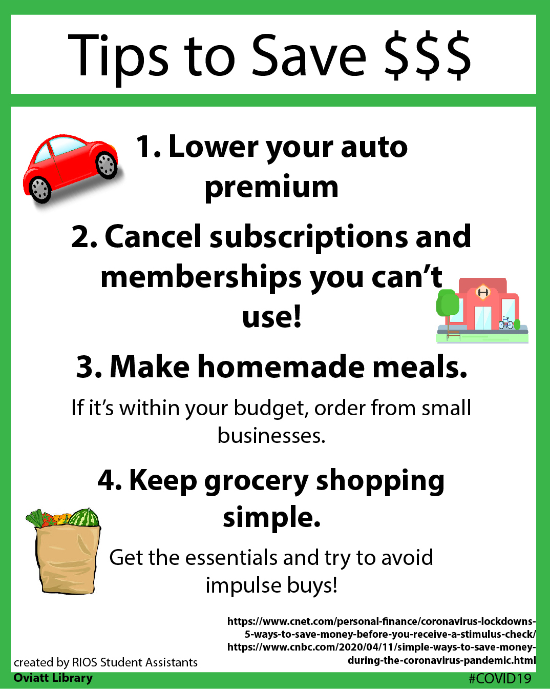Tips to Save $$$