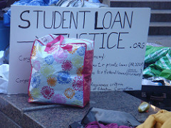 Student loan justice sign