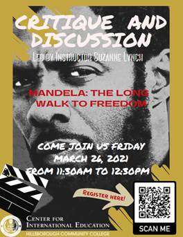 poster for critique and discussion Mandela Long Road to Freedom