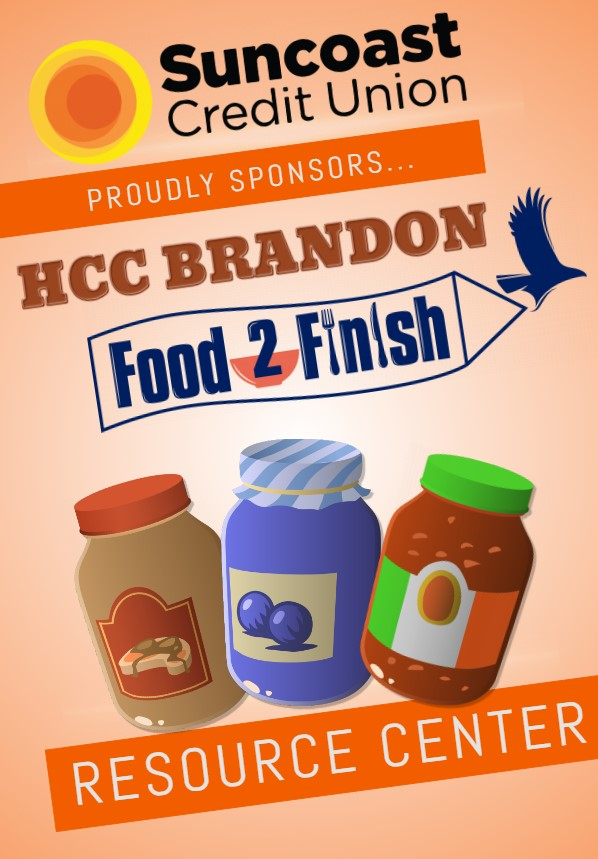Food2Finish poster with Suncoast Credit Union's support