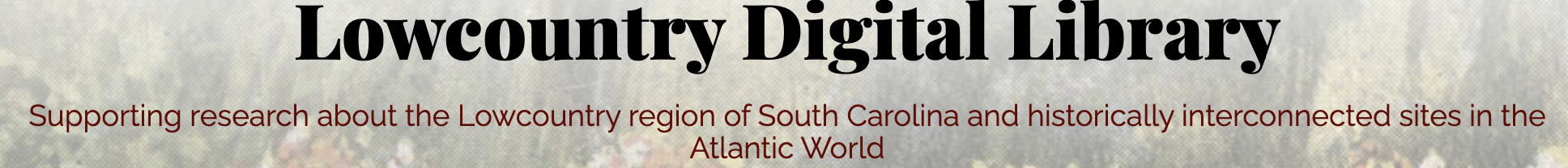 Lowcountry Digital Library LCDL