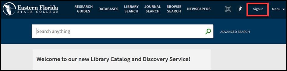 Library Search Box