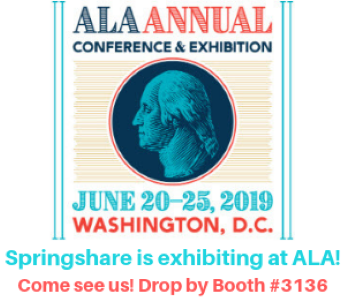 Springshare is exhibiting at ALA. Come see us. Drop by Booth #3136