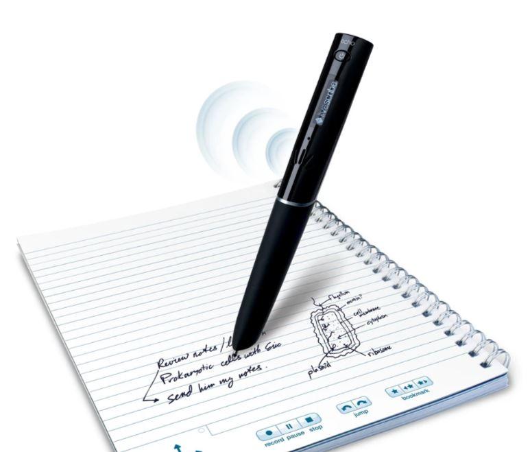 photo of a Livescribe Echo Smartpen and Livescribe notebook