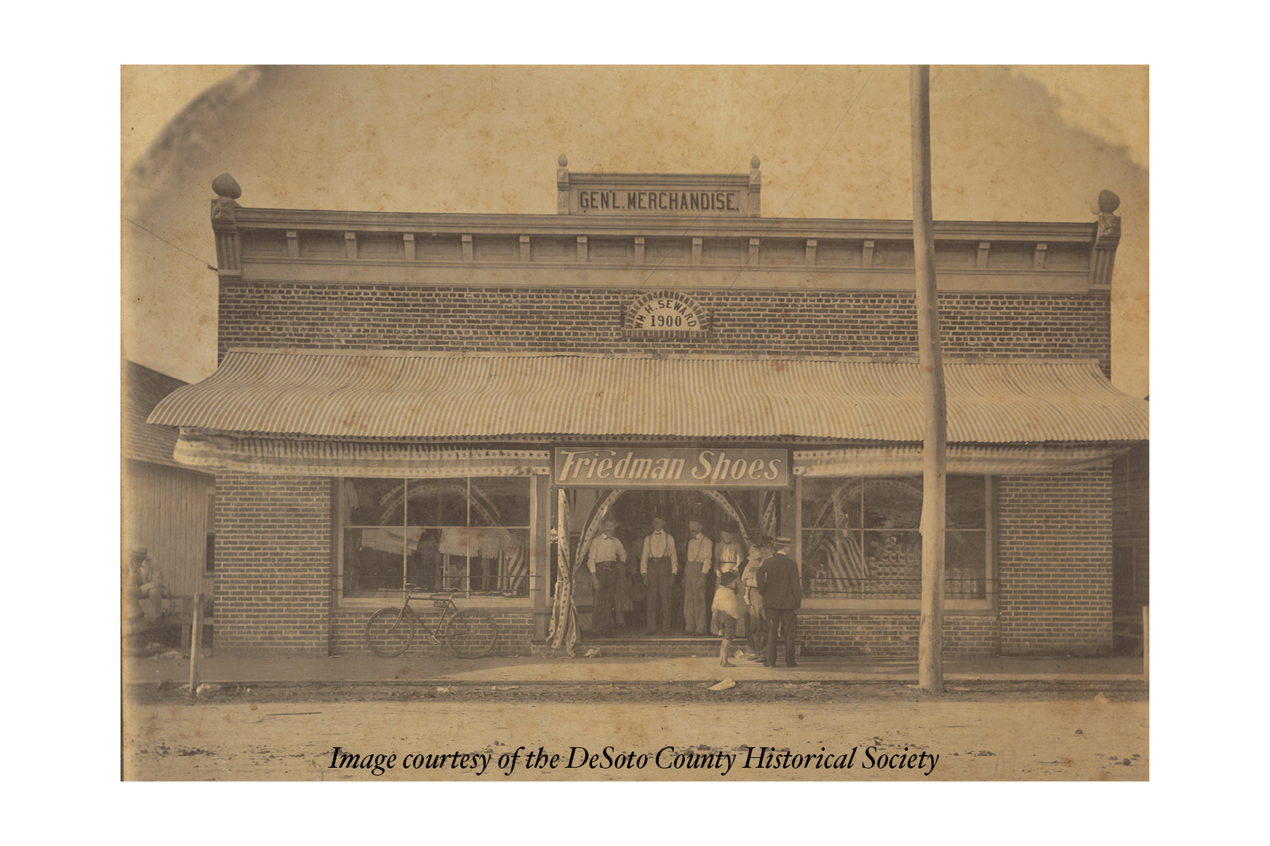 Newspaper clipping of W. H. Seward Stores