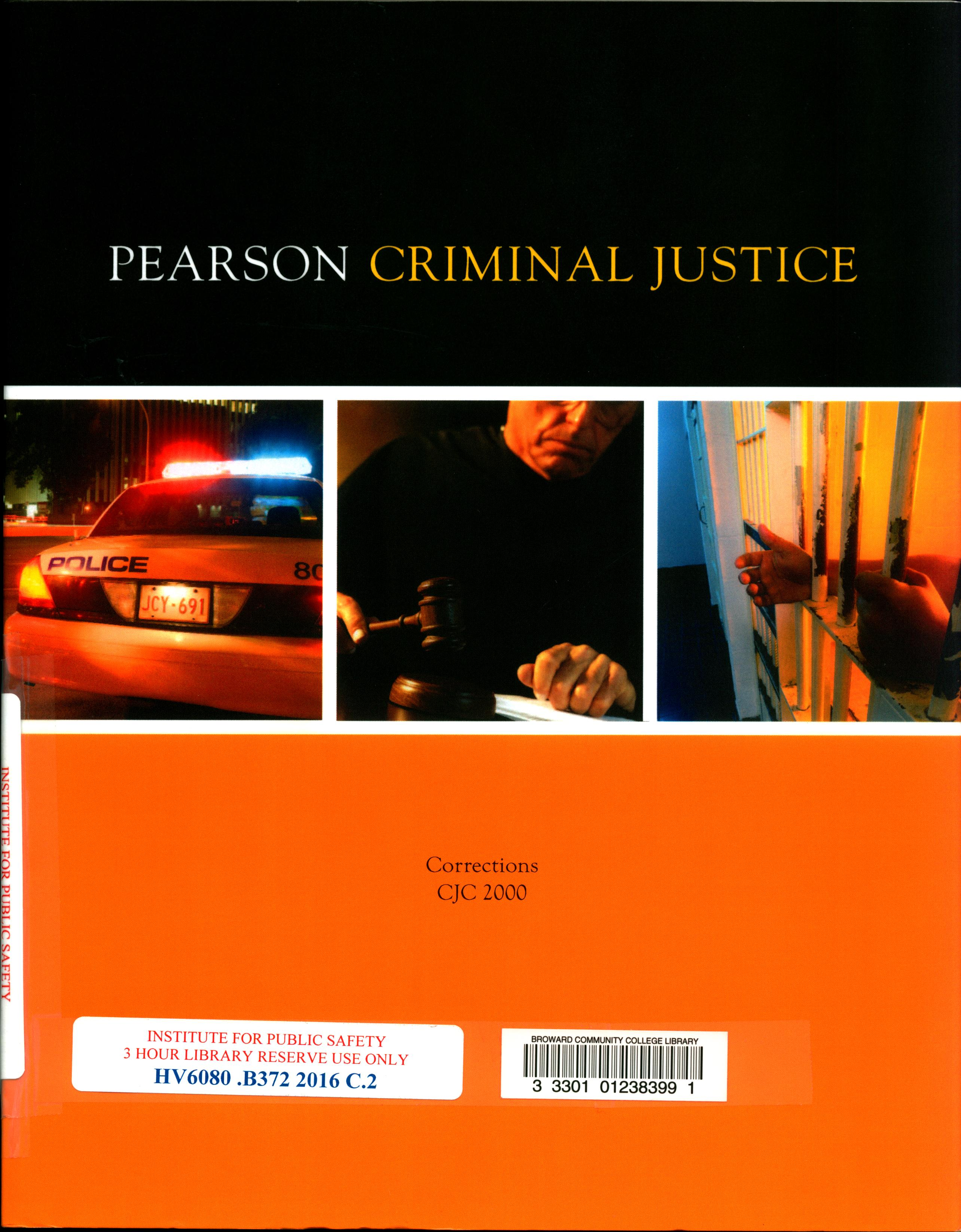 Cover art of Criminal Justice Correction