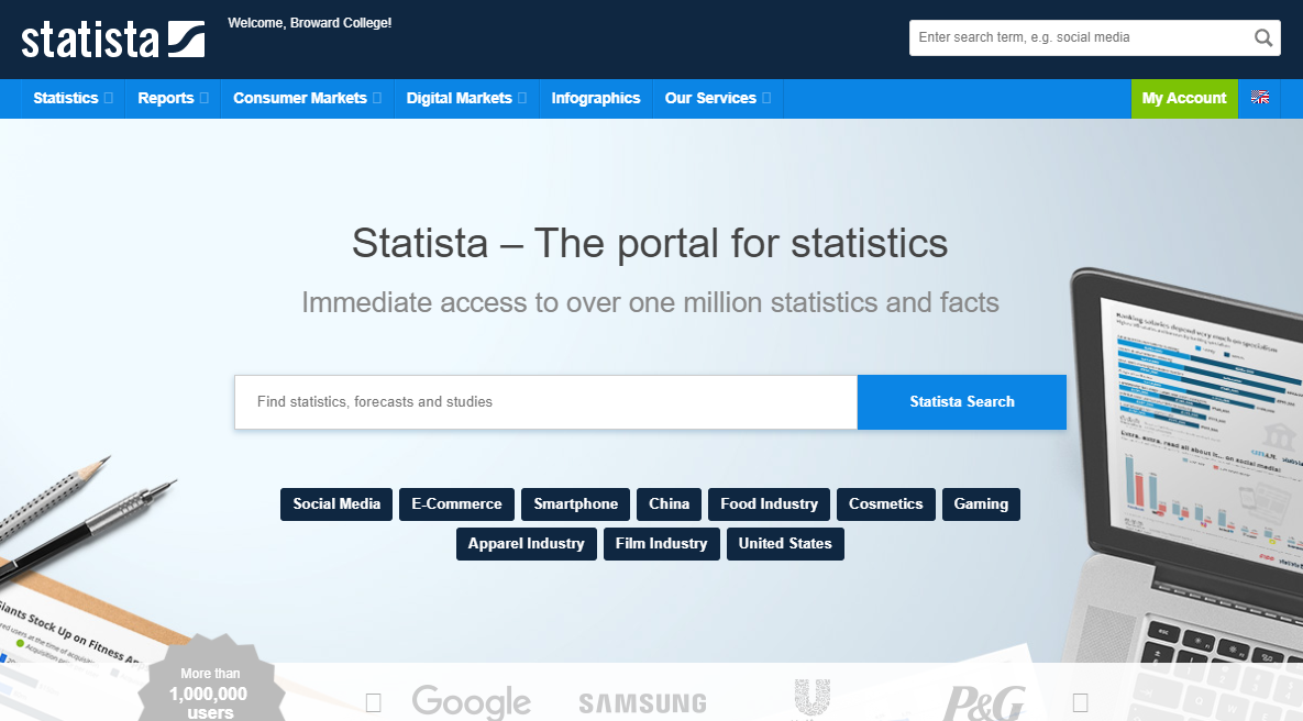 Statista - The Portal for Statistics