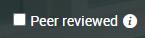 peer review check box
