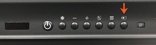 Photo of the source button on a Promethean smart board