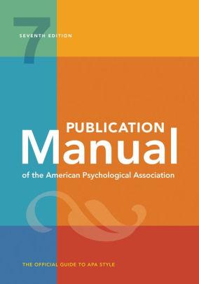 APA manual cover