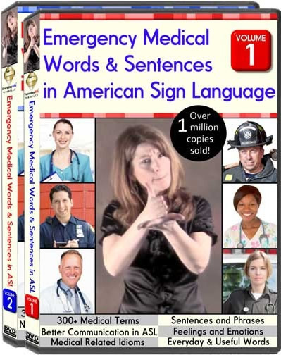 Emergency Medical Words & Sentences in American Sign Language. Vol. 1 & 2