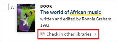 Check in other libraries link
