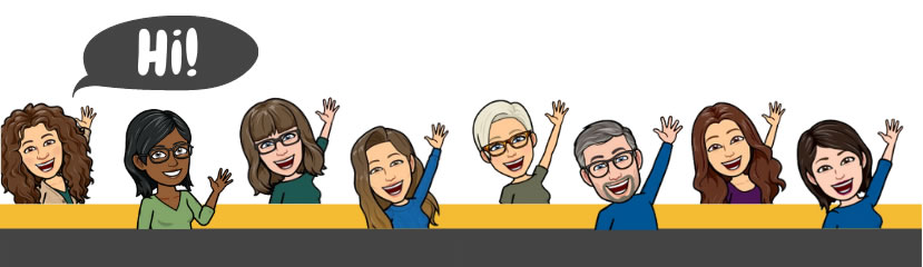 avatars of librarians saying Hi!