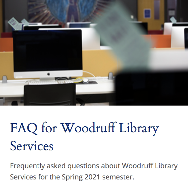 FAQ image of library computer