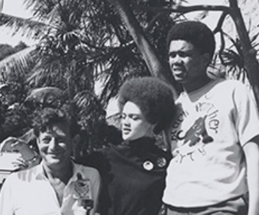 Kathleen Cleaver with friends, 1960s