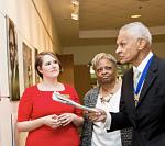 Rev. C.T. Vivian, Carol Anderson, and Sarah Quigley