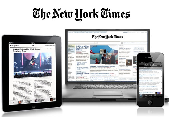 The New York Times on computer and mobile devices