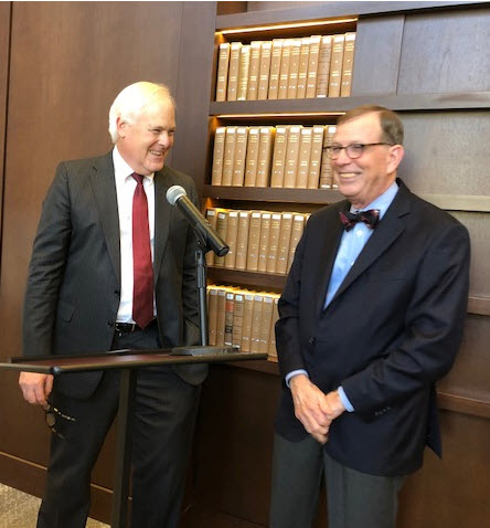 Dean Wilcox talks with Dr. Walter Edgar