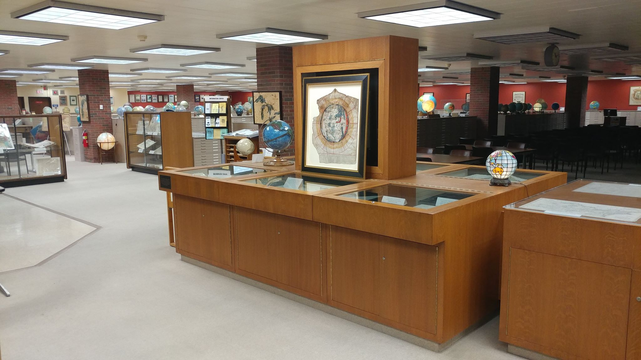 interior of the American Geographical Society Library