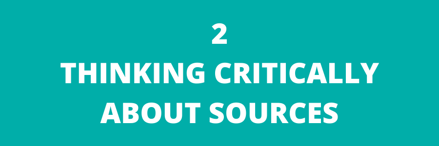 Module 2-Thinking critically about sources