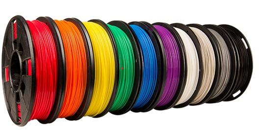 MakerBot 3D printer colored filament
