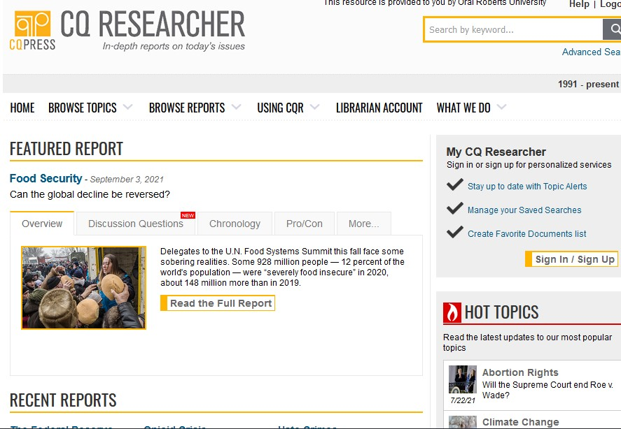 CQ Researcher