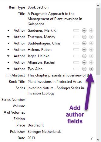 Add author fields