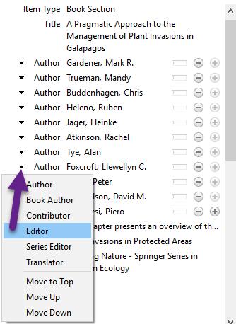 Use drop-down menu to change to editor