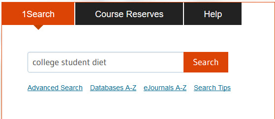 keyword example - college student diet