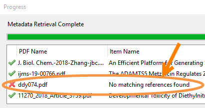 Zotero can't find metadata