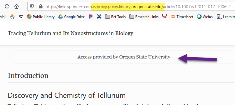 OSU Libraries proxy info added