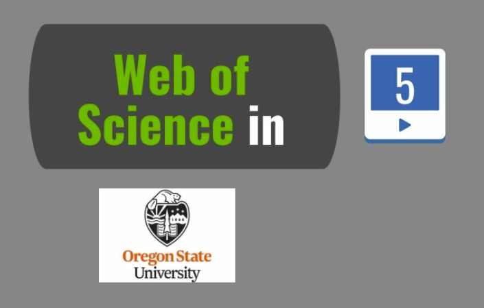 web of science in oregon state university