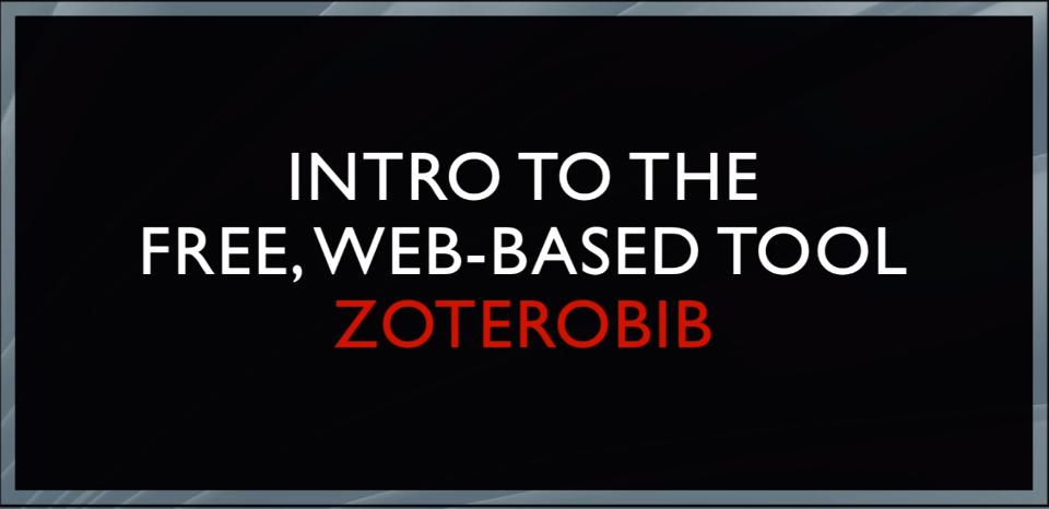 ZoteroBib Video
